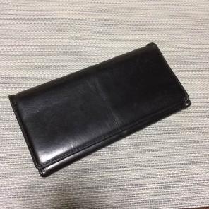 無印良品 長財布 ヌメ革 ブラック 黒 MUJI