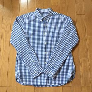 無印良品 ギンガムチェックシャツ
