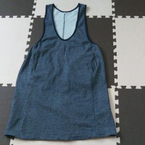無印良品 妊婦服 ロングジャンパースカート(グレー)