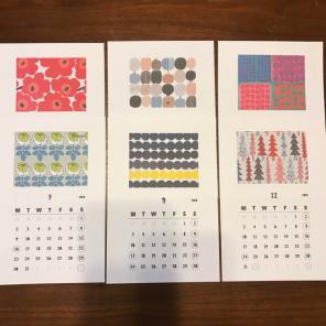 マリメッコ 卓上カレンダー