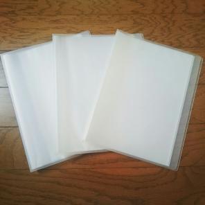 無印良品 B5 クリアファイル 3冊セット