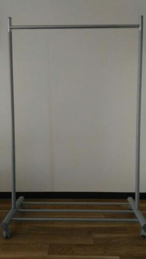 ルミナス ハンガーラック プロ ダブル キャスター付 クローム 幅100cm HPD-100CR 1台 (