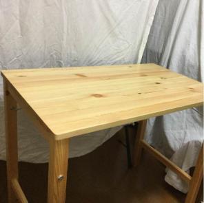 無印良品 パイン材テーブル.折りたたみ式 パイロン材ローテーブル.折りたたみ式