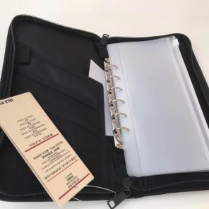 無印良品 パスポートケース クリアポケット3枚付き 黒 新品未使用 限定色